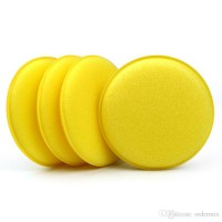 "Automagic 4""Round Yellow Foam Applicator Pad"